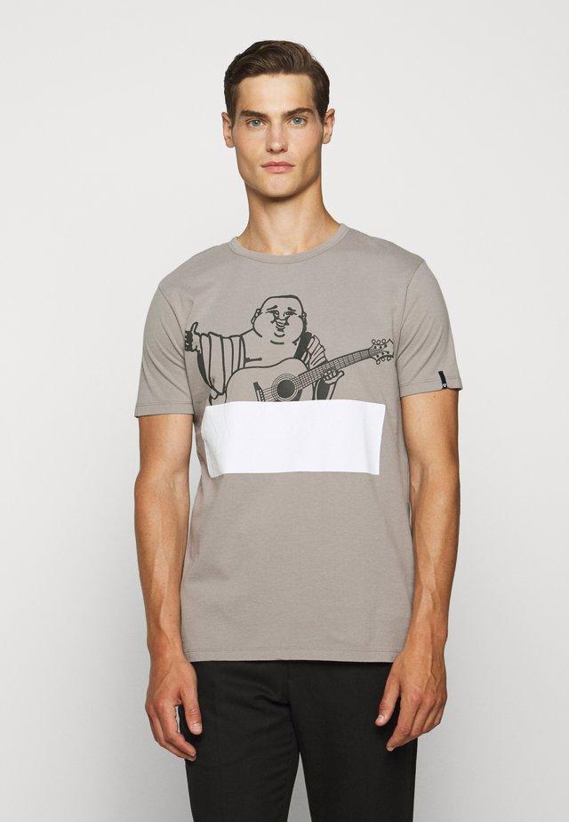 CREW BUDDHA BLOCK - T-shirt con stampa - grey
