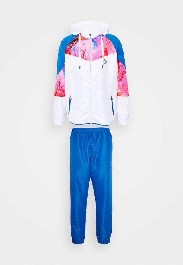 KAFIL TECH TRACKSUIT - Verryttelypuku - blue/pink