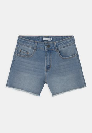 NKFRANDI MOM  - Shorts vaqueros - light blue denim