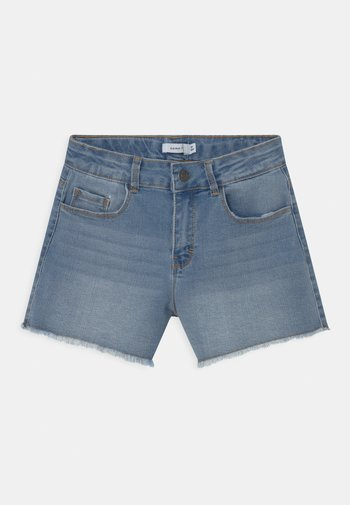 NKFRANDI MOM  - Denim shorts - light blue denim