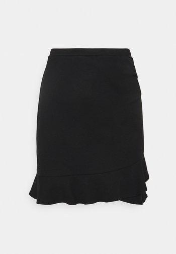 LUCY FRILL SKIRT - Mini skirt - black