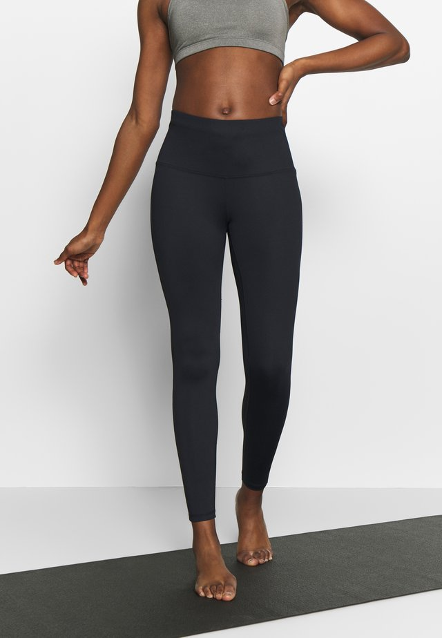 LEGGING ZIP - Leggings - black