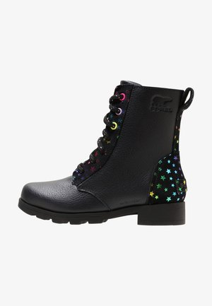 YOUTH EMELIE™ SHORT LACE - Lace-up ankle boots - black