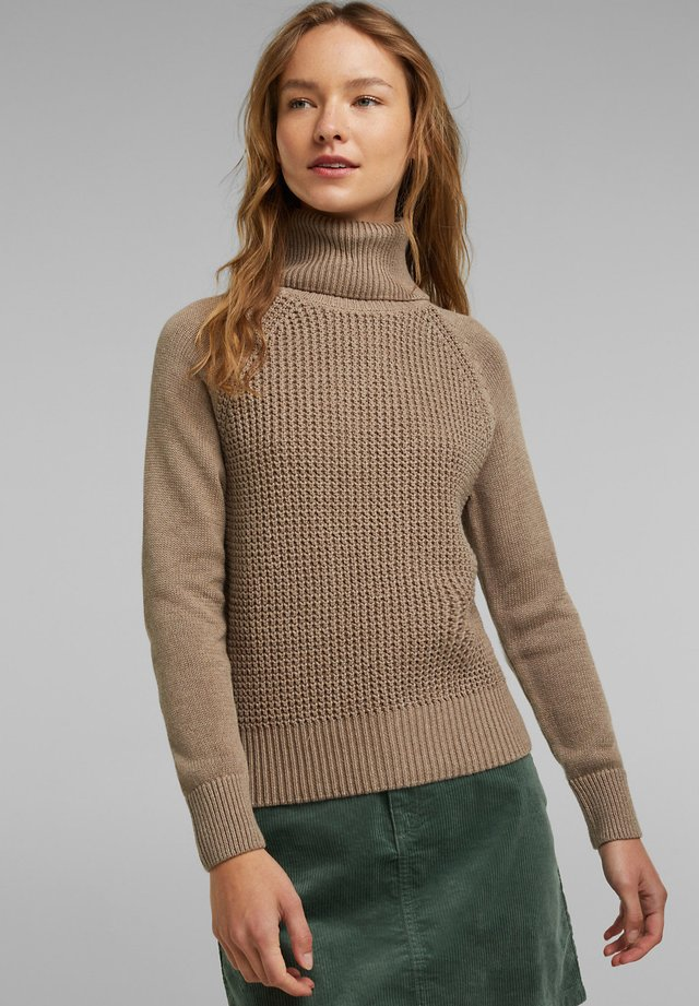 COWL NECK - Pullover - taupe
