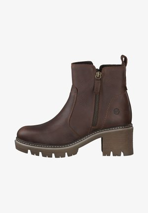 Ankle boots - cognac pull up