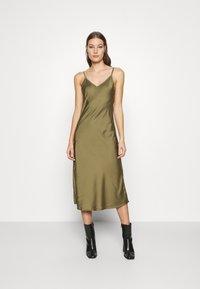AllSaints - BENNO TEE DRESS SET - Long sleeved top - pale olive - 4