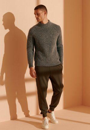 ALPACA BLEND CREW - Jumper - graphite grey marl