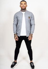 Ed Hardy - TILL DEATH BOMBER TRACKTOP - Zip-up hoodie - grey - 1