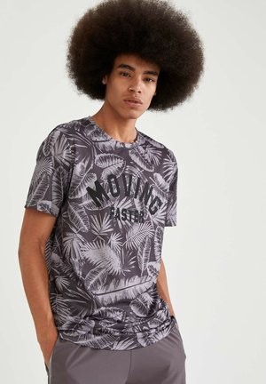 T-shirt imprimé - anthracite