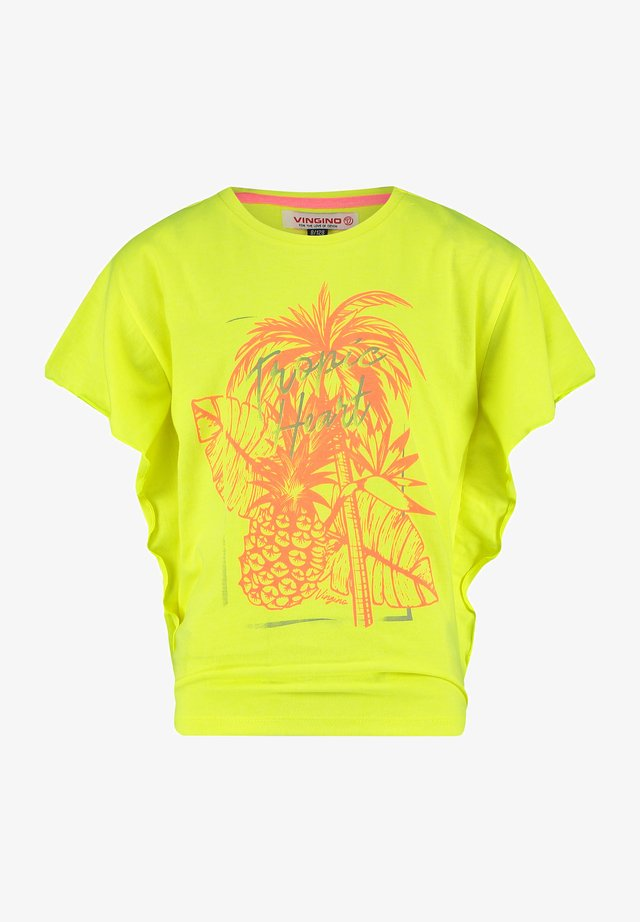 T-shirt imprimé - fresh neon green