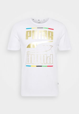 REBEL TEE 5 CONTINENTS - T-Shirt print - white