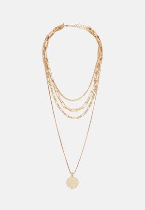 COIN LAYERING NECKLACE UNISEX - Kaklarota - gold-coloured