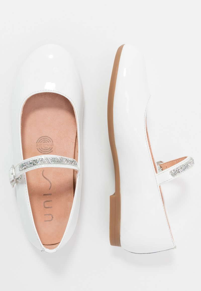 Unisa - CLERVY - Ankle strap ballet pumps - white