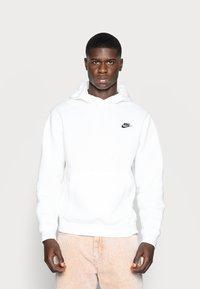 Nike Sportswear - CLUB HOODIE - Sweat à capuche - white/black - 0