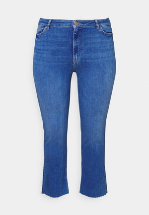 PCDELLY STRAIGHT ELECTRIC - Jeans Tapered Fit - medium blue denim