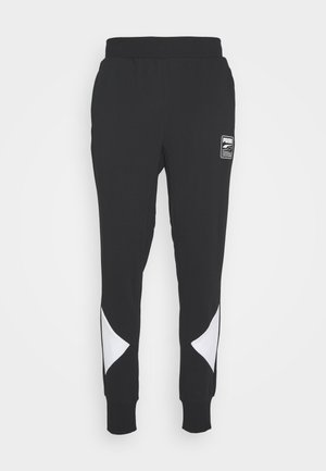 REBEL PANTS BLOCK - Tracksuit bottoms - black