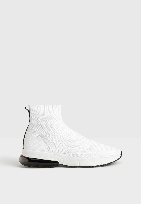 MIT ELASTISCHEM SCHAFT Höga sneakers white
