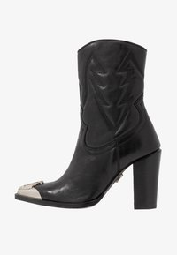 Bronx - NEW AMERICANA - High heeled ankle boots - black - 1