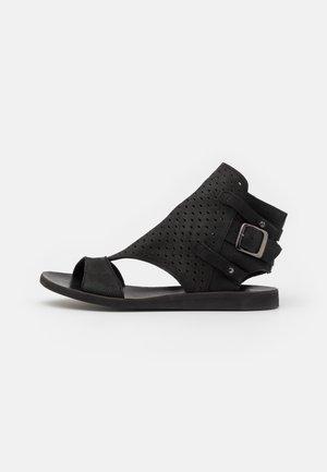 CAROLINA  - Sandalen met enkelbandjes - pacific black