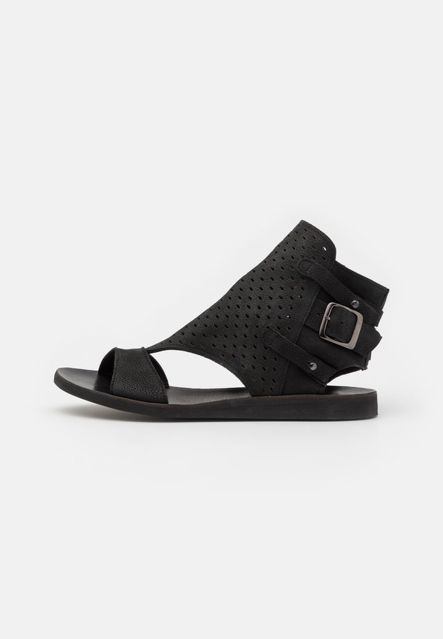 CAROLINA  - Ankle cuff sandals - pacific black