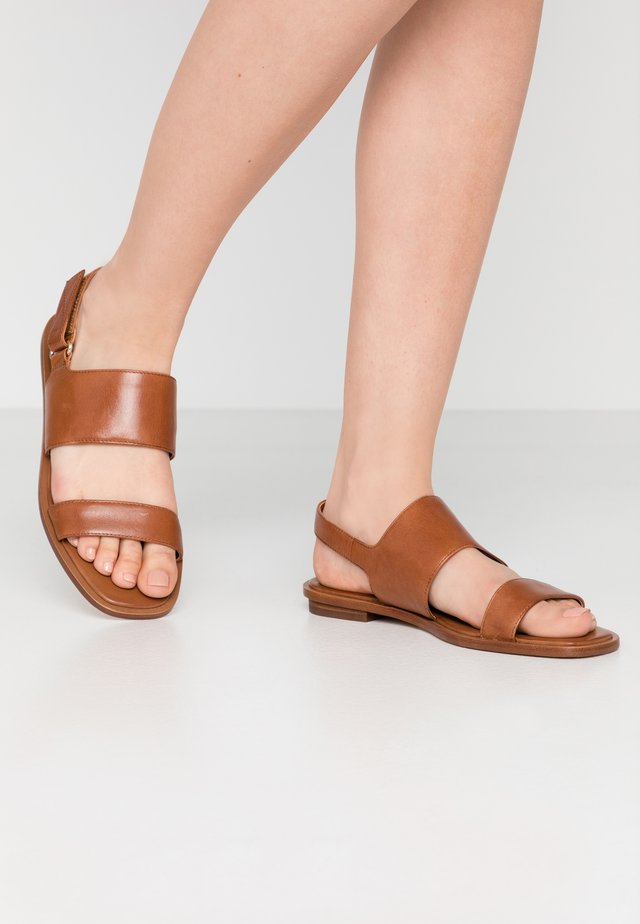 SULA - Sandals - cognac