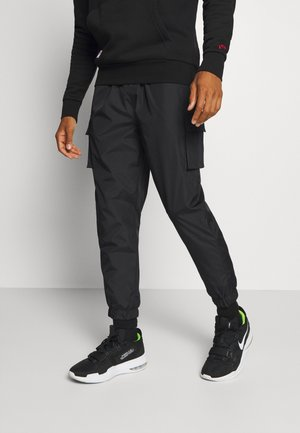 CARGO TRACK PANT - Tracksuit bottoms - black