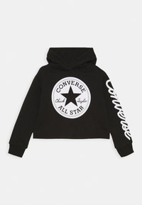 Converse - CHUCK PATCH CROPPED HOODIE - Hoodie - black - 0