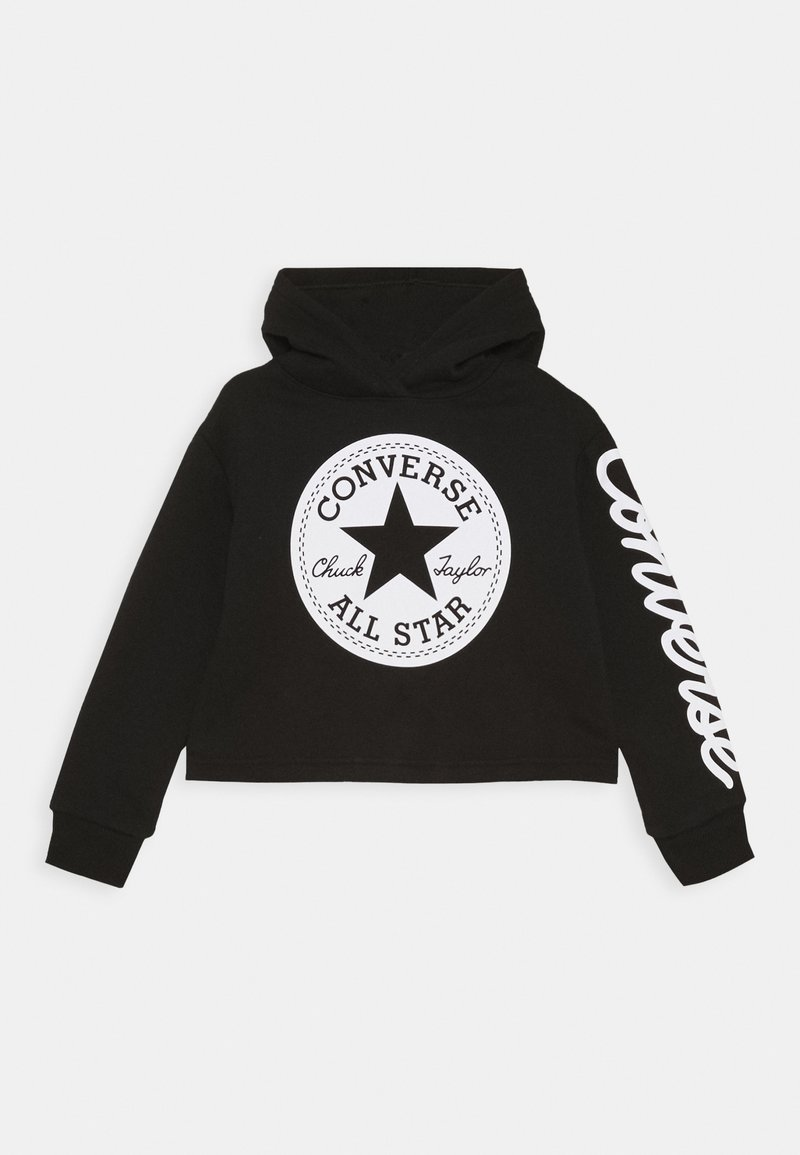 Converse - CHUCK PATCH CROPPED HOODIE - Hoodie - black