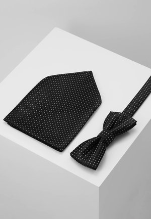 ONSTBOX THEO TIE SET - Pocket square - black/white