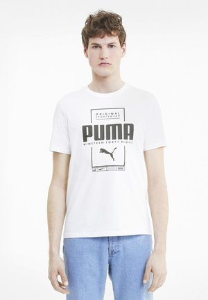 BOX TEE - Print T-shirt - puma white