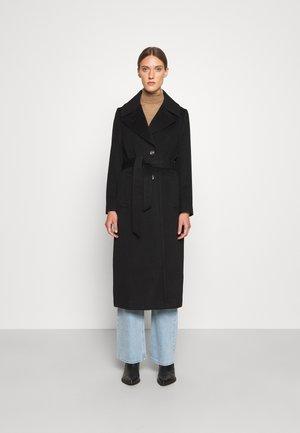 COAT CLARETA BELT - Klasický kabát - black