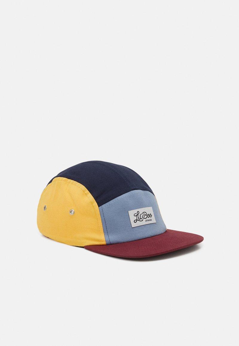 Lil'Boo - BLOCK UNISEX - Kšiltovka - burgundy/dusty blue/yellow/navy