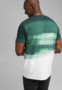 Esprit - FASHION SLUB - Print T-shirt - teal green - 5