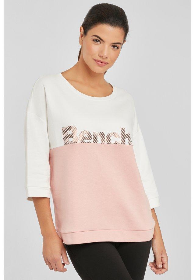 Sweatshirt - apricot-ecru
