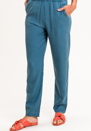 Trousers - aquagrün