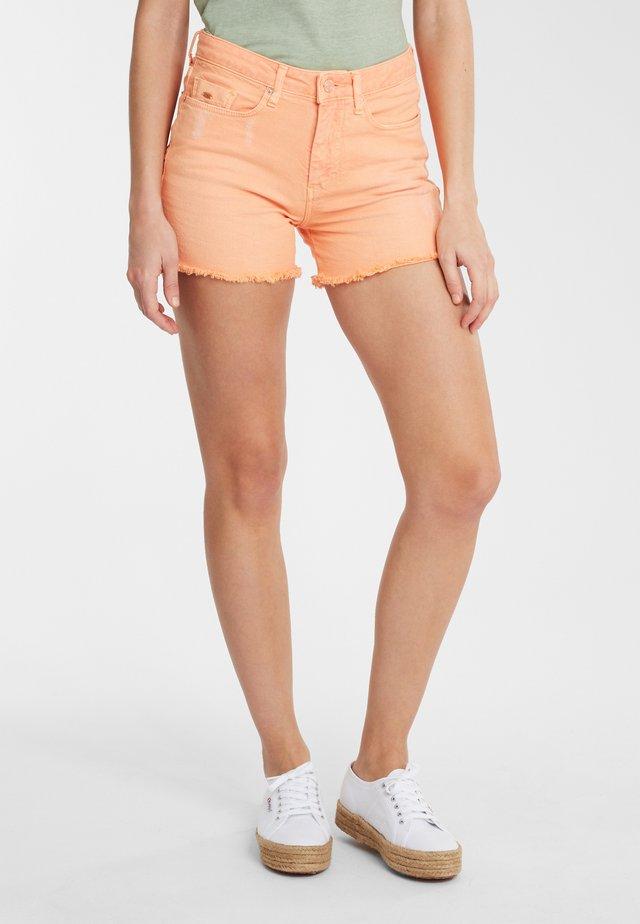 Short en jean - orange