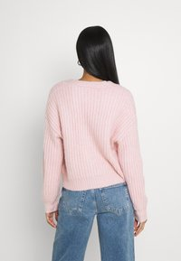 YAS - YASSUDANA CARDIGAN - Cardigan - chalk pink melange - 2