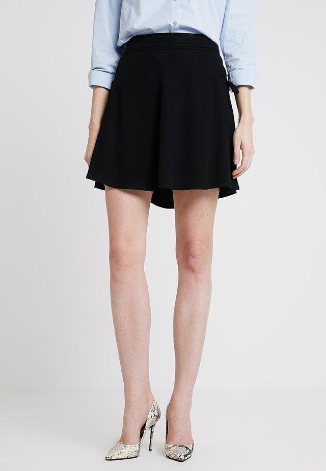 SKIRT LACING DETAIL - Mini skirts  - black