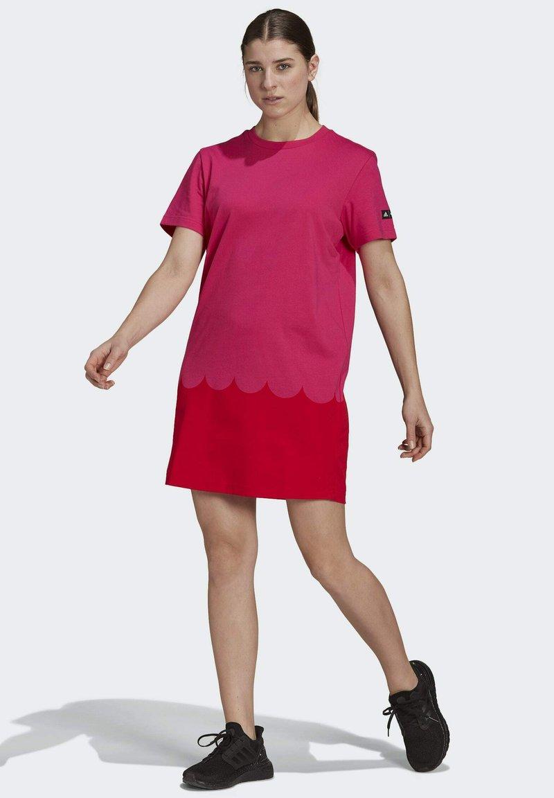 adidas Performance - MARIMEKKO  - Jersey dress - pink