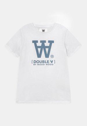OLA UNISEX - T-shirt print - white/blue