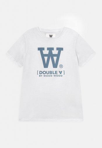 OLA UNISEX - Print T-shirt - white/blue