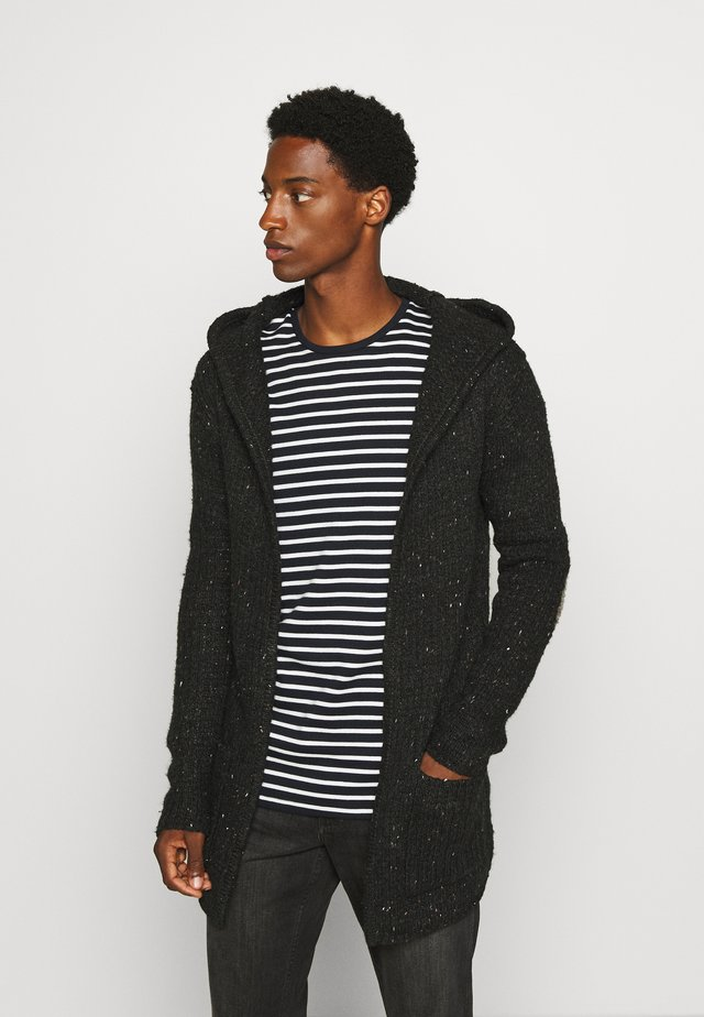 TRENCE HILL - Cardigan - dark charcoal melange