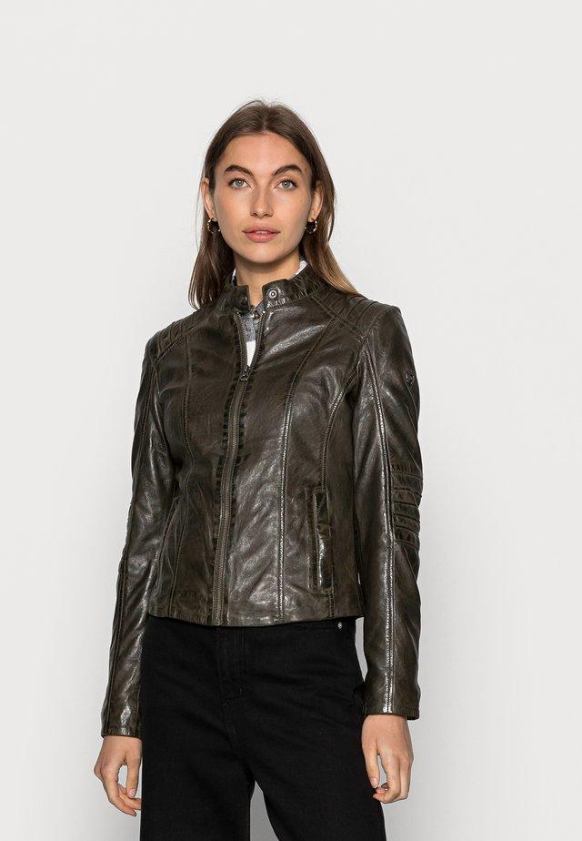 JUANA LONTV - Leather jacket - olive green