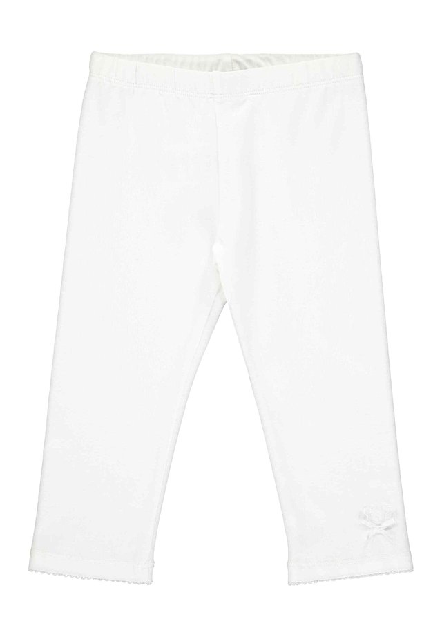STEIFF COLLECTION LEGGINGS MIT TEDDYBÄRMOTIV - Leggings - Trousers - bright white