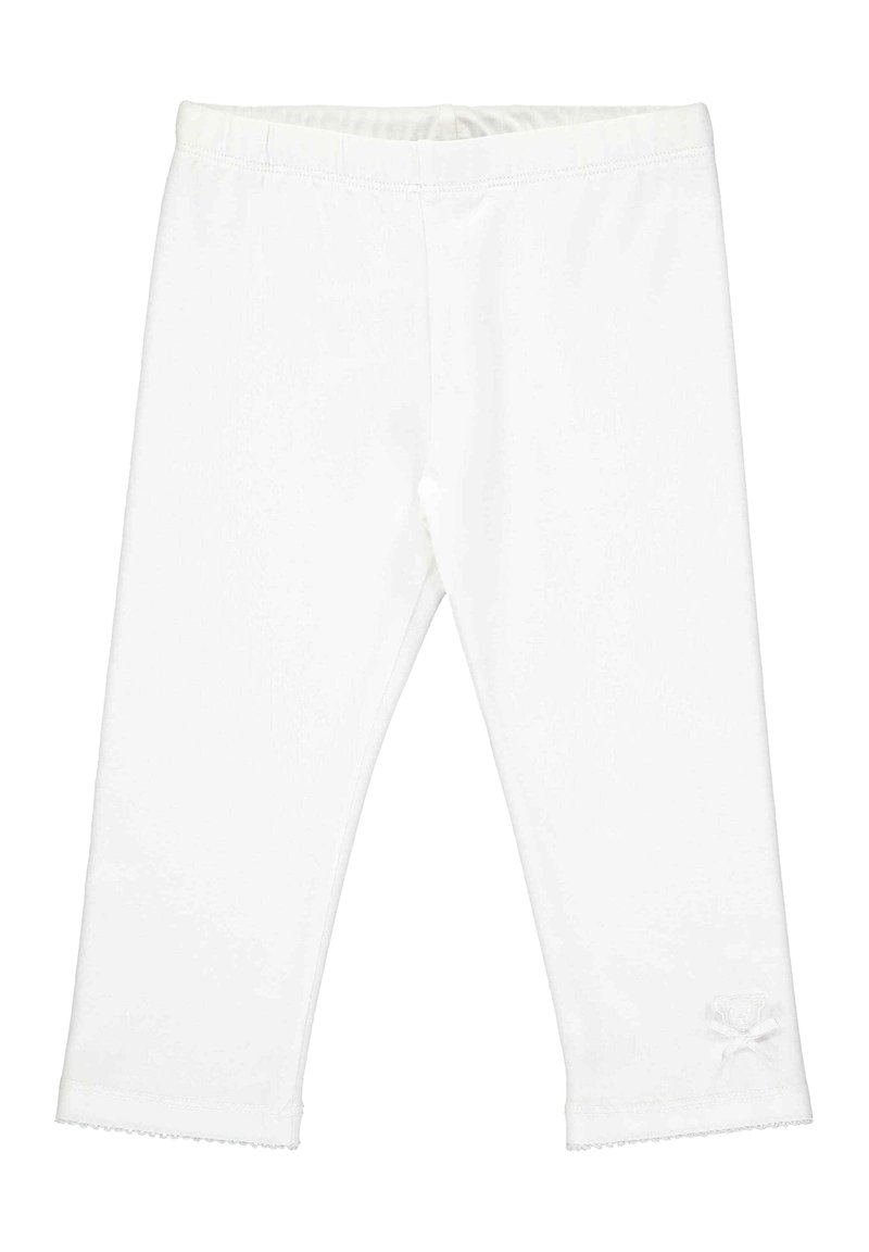 Steiff Collection - STEIFF COLLECTION LEGGINGS MIT TEDDYBÄRMOTIV - Leggings - Trousers - bright white