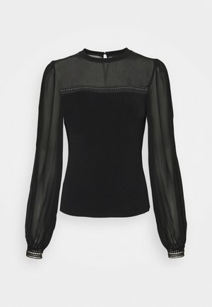 TALLULAH TRIM SPLICED YOKE - Blouse - black
