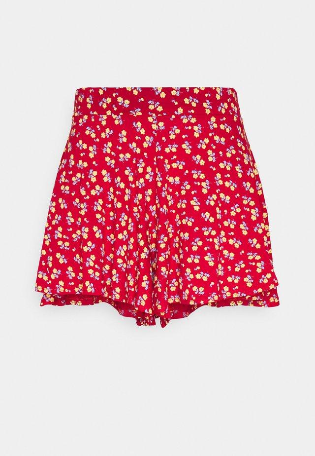DITSY FLOATY HEM - Shorts - red