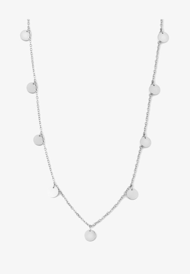 KREIS PLÄTTCHEN GEO - Necklace - silver-coloured
