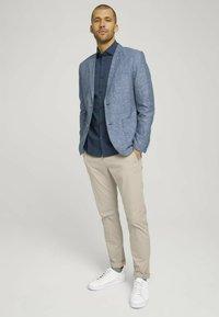 TOM TAILOR - Blazer jacket - woven blue melange - 1
