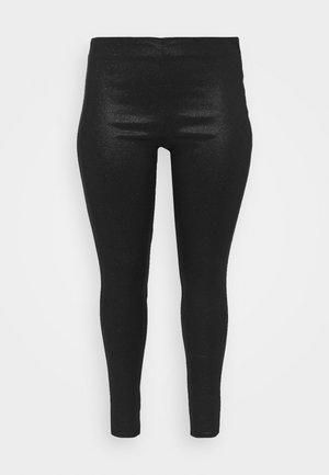 PCSKIN PARO GLITTER  - Leggings - Trousers - black